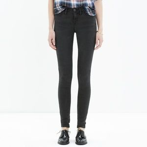 Madewell Legging Jeans in black Cyclone Wash